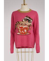 Gucci - Cat & Glasses Knit Jumper - Lyst