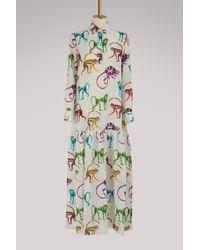 Stella Jean - Printed Monkeys Long Dress - Lyst