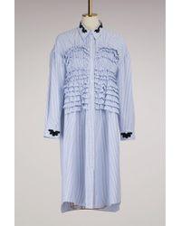 Simone Rocha   Smocked Front Shirt Dress   Lyst