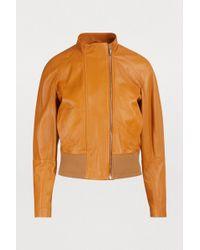 Sportmax - Otre Leather Jacket - Lyst