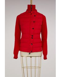 Moncler Grenoble - Wool And Duvet Cardigan - Lyst