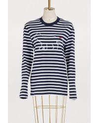 Maison Kitsuné - Striped Cotton Fox Shirt - Lyst