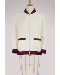 Moncler - Lili Embroidered Bomber Jacket - Lyst