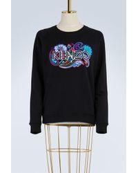 KENZO   Cotton Paisley Sweatshirt   Lyst