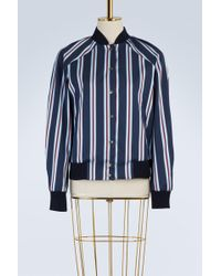 KENZO - Cotton Striped Teddy Jacket - Lyst