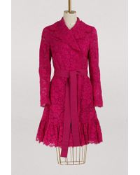 Dolce & Gabbana - Lace Trench Coat - Lyst