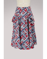 Carven   Cotton Skirt   Lyst