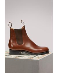 J.M. Weston Bottines Cambre en veau box bergeronnette