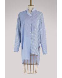 Loewe - Asymmetrical Patchwork Shirt - Lyst