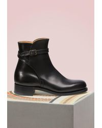 J.M. Weston - Bottines Jodhpur en veau box - Lyst