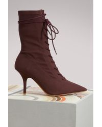 Yeezy - Canvas Lace Up Boots - Lyst