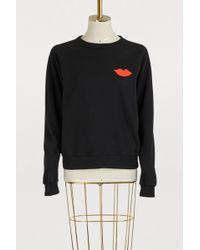 Clare V. - Cotton Lips Sweatshirt - Lyst