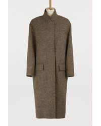 32 Paradis Sprung Freres - Detroit Long Tweed Coat - Lyst