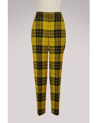 Balenciaga - Tartan Pants - Lyst
