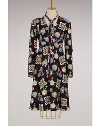 Valentino - Flower Pop Long Sleeves Dress - Lyst