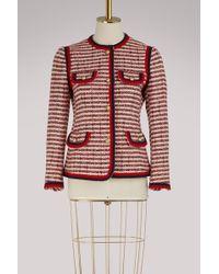 Gucci - Striped Tweed Jacket - Lyst