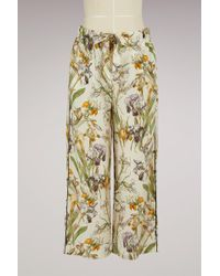 Alexander McQueen - Printed Silk Pyjama Trousers - Lyst