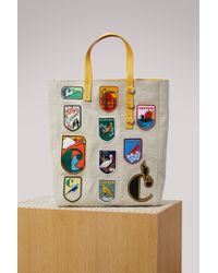 Carven - Emblems Logo Shopping Bag - Lyst