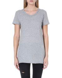 Enza Costa Shortsleeved Cotton Tshirt Grey - Lyst
