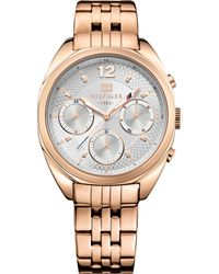 Tommy Hilfiger Women'S Rose Gold Ion-Plated Stainless Steel Bracelet Watch 38Mm 1781487 - Lyst