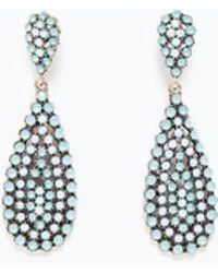 Zara Green Jewel Earrings - Lyst