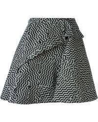 Kenzo Broken Floor Flared Skirt - Lyst