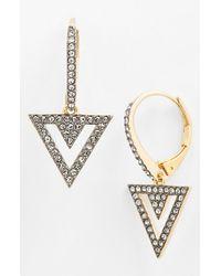 Nadri 'Nested' Pave Drop Earrings - Lyst