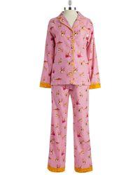 Munki Munki Flannel Dog Sled Pajamas - Lyst