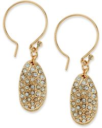 Sequin Pave Teardrop Stone Earrings - Lyst