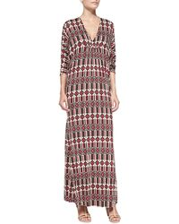 Rachel Pally Florence Printed Jersey Long Caftan - Lyst