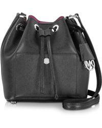 Michael Kors | Greenwich Saffiano-Leather Bucket Bag | Lyst