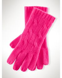 Polo Ralph Lauren Cable-knit Cashmere Gloves - Lyst
