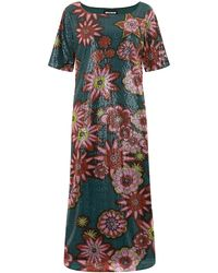 House of Holland Sequin Baseball Dress floral - Lyst