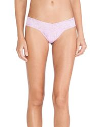 Hanky Panky Signature Lace Low Rise Thong - Lyst