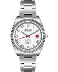 Bamford Watch Department - M'o Exclusive Bamford Bridal White Datejust - Lyst