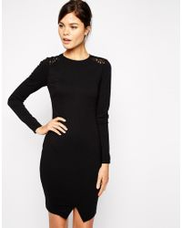 Ted Baker Dress With Lace Back - Lyst