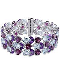 Julianna B - 91 1/4 Ct Tgw Blue Topaz - Sky Amethyst Rhodolite-garnet Bracelet Silver Length - Lyst