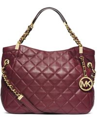 Michael Kors Susannah Quilted Leather Medium Tote - Lyst