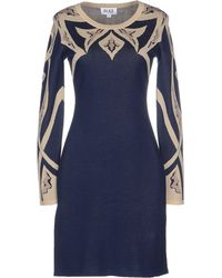 Alice By Temperley Short Dress blue - Lyst
