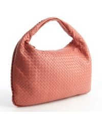 Bottega Veneta Rose Intrecciato Leather Veneta Large Hobo - Lyst