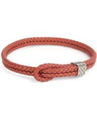 Bottega Veneta - Mens Woven Leather Knot Bracelet - Lyst