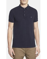 French Connection Men'S 'Simple' Slim Fit Pique Polo - Lyst