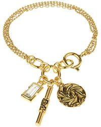 Diane von Furstenberg - Gold Plated Swarovski-crystal Pendant Bracelet - Lyst
