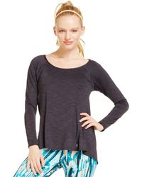 Betsey Johnson Scoop Neck Long Sleeve Tee - Lyst