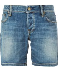 Burberry Brit Denim Shorts - Lyst