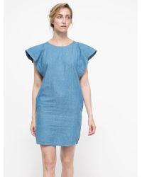 Linda Farrow Lyon Dress blue - Lyst
