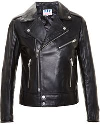 Filles A Papa - Leather Jacket With Eyelets - Lyst