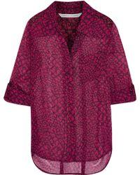 Diane von Furstenberg Lorelei Two Printed Silk-Chiffon Shirt - Lyst