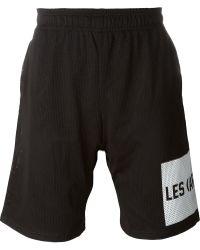 LES (ART)ISTS - Les (art)ists Mesh Track Shorts - Lyst