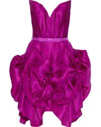Marchesa Ruffled Silk Organza Dress - Lyst